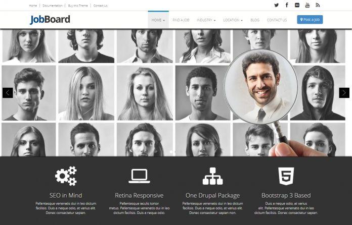 JobBoard - #responsive #Drupal #Theme for Job boards, #Job #classifieds & Job #Community sites.