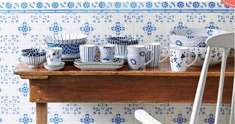blauw-wit servies riverdale