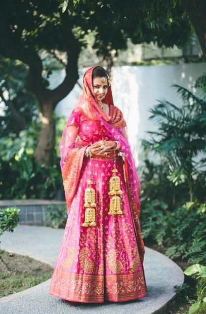 Hot pink bridal lehenga