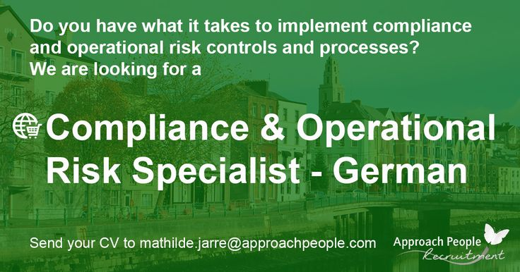 Call for Compliance & Operational Risk who speak German and want to relocate to Dublin! Apply now: http://www.approachpeople.com/international/job-description/?id_job=14487 #jobs #ireland #dublin #finance