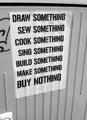 Creativity vs. Materialism.