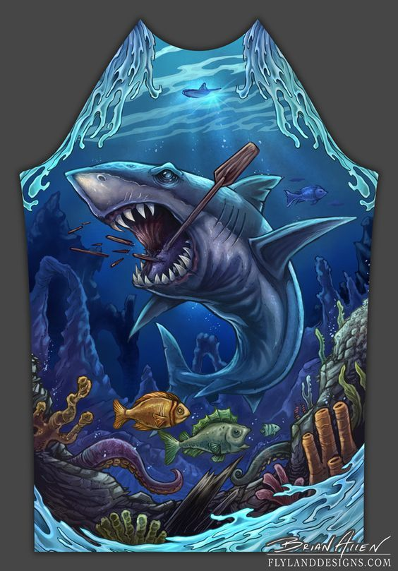 I was recently hired by an apparel brand called Wet Monster to design and illustrate an underwater scene to be printed on rashguards and…