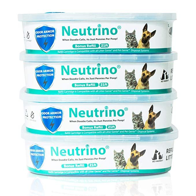 Amazon Com Neutrino 4 Pack Refills Fit Litter Genie Pail Waste Disposal Systems For Cats Dogs 21 Foot Extra Long Capacity Wit Waste Disposal Dog Cat Refill
