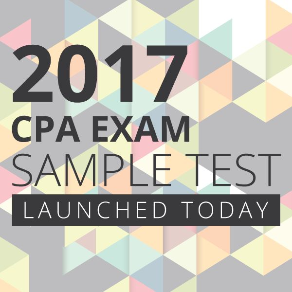 The AICPA just released a sample of the 2017 CPA Exam. Get access to it here to familiarize yourselves with the content and structure so you know what to expect.