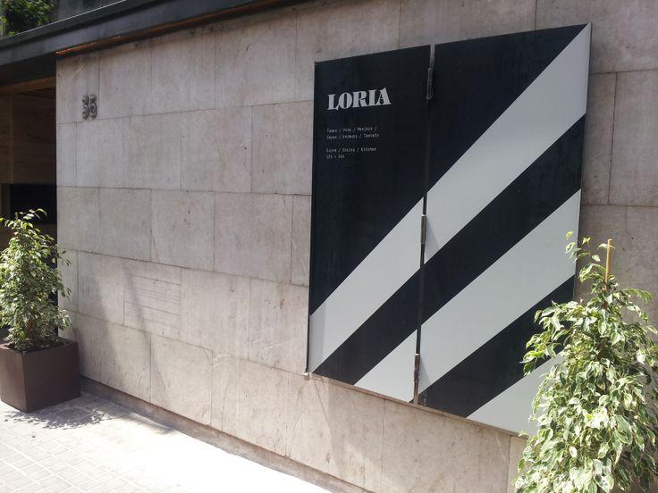 Cartel entrada restaurante Loria
