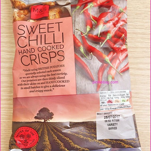 Review of Marks & Spencer Sweet Chilli Crisps  I quickly popped into marks & Spencer to grab some lunch on the go. Most of their flavoured crisps are not an option for a dairy free diet. I saw that their sweet chilli crisps were part of their meal deal as I was feeling optimistic I decided to pick them up and check their ingredients. Sure enough they were suitable for a dairy free diet so I decided to have them as a little treat as part of my lunch. Please click on the link to read my…