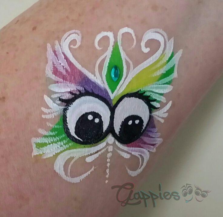 Butterfly Gappie painted by Schminkkoppies