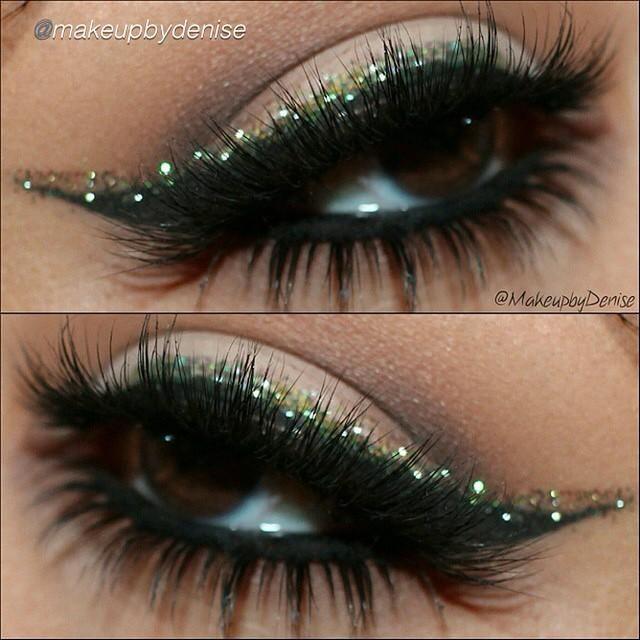 glitter liner look