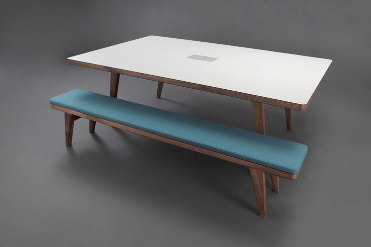 Osprey table & bench set with upholstered seat pads