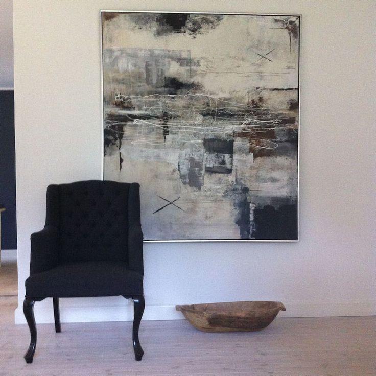 Spisebordsstol med armlæn - polstret