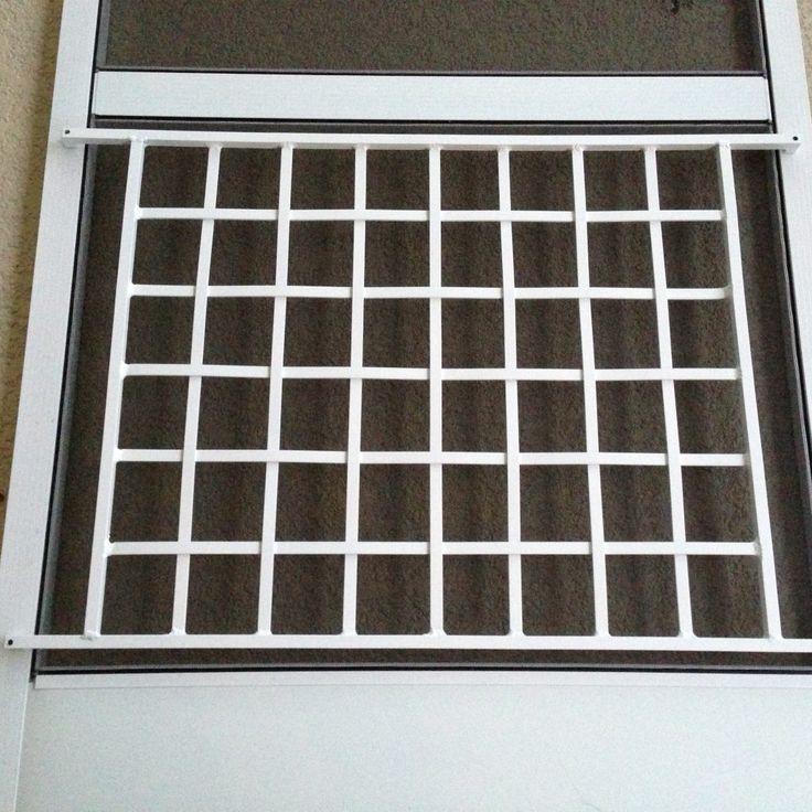 White Aluminum Screen Door Grill