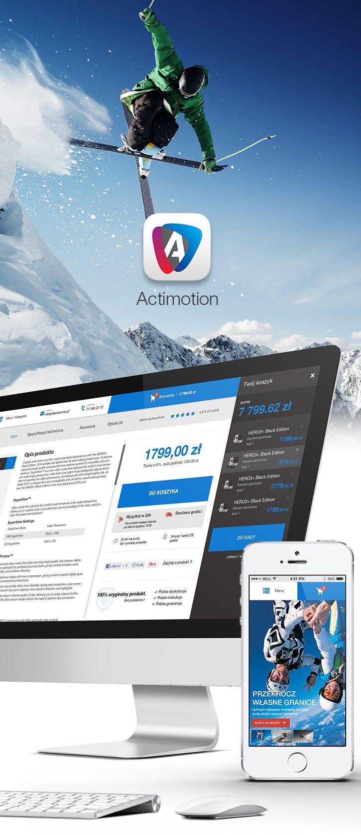 Actimotion – Different Online Shop, #Concept, #E_Commerce, #Flat, #Responsive, #Shopping, #Simple, #UX, #Web #Design