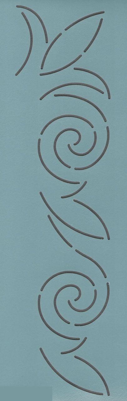 """Scroll & Leaf 2"""" - The Stencil Company"""