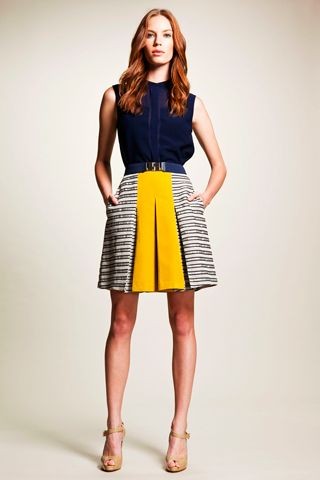 Great color combination - love the skater skirt