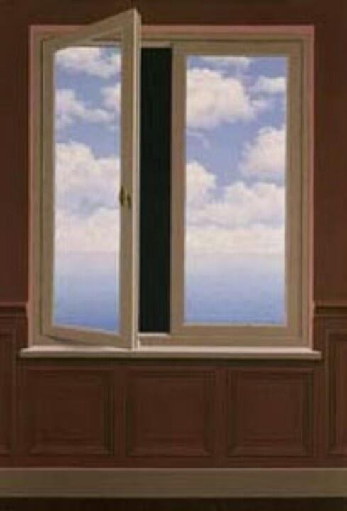 Door pinterest fields magritte and for Fenetre meaning