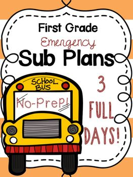 First Grade Emergency Sub Plans - 3 FULL Days! #8daysofchristmas