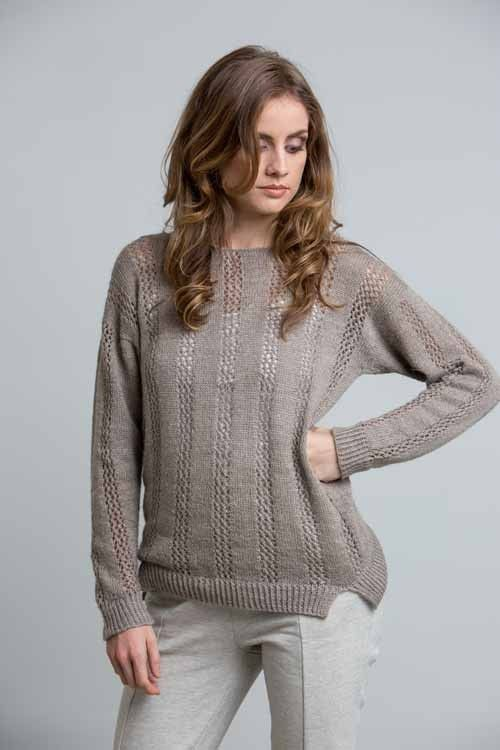 53014ddd88e7 The Pismo Beach Pullover by Amanda Scheuzger showcases light-weight fibers