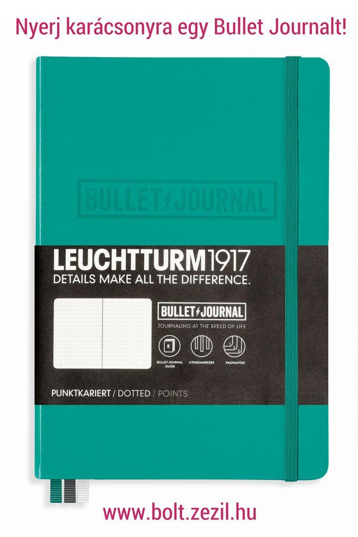 Egy jó tippért egy Leuchtturm1917 Bullet Journal füzetet lehet nyerni smaragdzöld színben! Katt a részletekért!