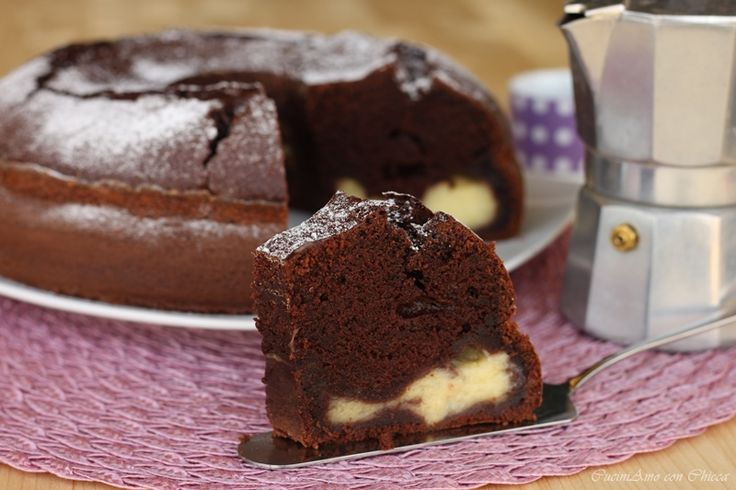Ciambellone al cioccolato e crema |CuciniAmo con Chicca