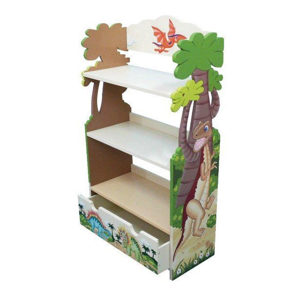 Beautifully carved, hand-painted wooden furniture.With 3 shelves and an under drawer. A great place to store books, trophies etc for your little one. You can m