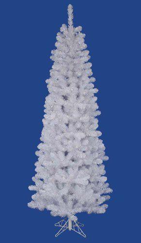 95 white salem pine pencil artificial christmas tree unlit vickerman http - Amazon Christmas Trees