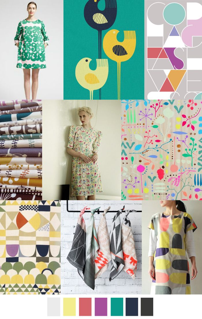 SCANDI DANDY - Steamed Bonbon Colours with a Scandinavian touch - SWEET! [seen for Summer 2017] sources@patterncurator.org
