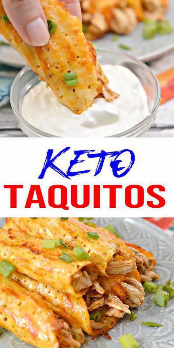 Keto Taquitos! BEST Low Carb Keto Taquitos Käse eingewickeltes Hühnchen Idee – Schnell & Einfach Ketogene Diät Rezept – Komplett Keto-freundlich