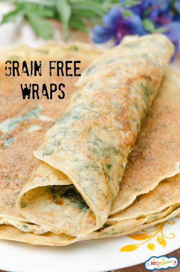 grain free wraps with 1/4 cup shredded spinach added are perfect for a healthy office lunch!