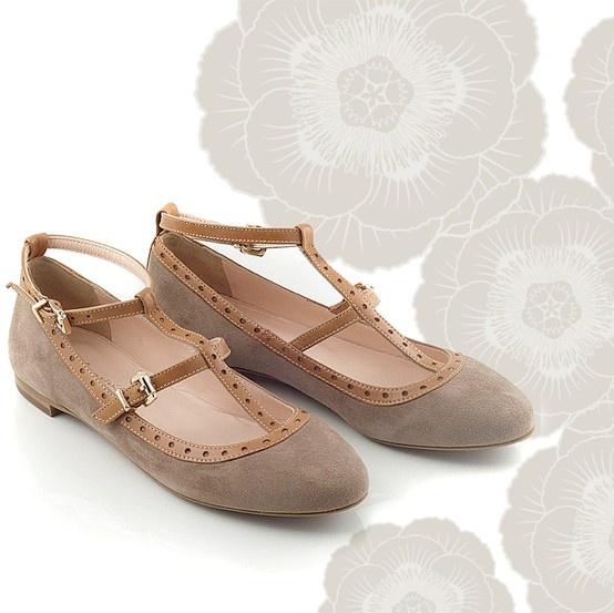 Chaniotakis | Beige-Taba Ballerina with ankle strap