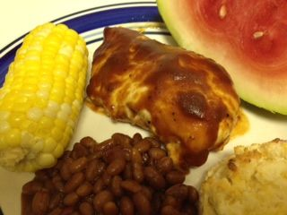 Easy Oven BBQ Chicken - 2 ingredients!