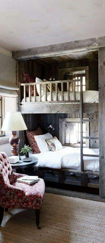 Not sure why maybe the windows ?? but this is the best looking set of bunks in a room I have seen for a very long time... Ceiling height ??