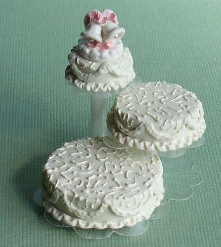 Wedding Bells Cake Topper - Dollhouse Miniature by Whimsy Cottage Minis, via Flickr