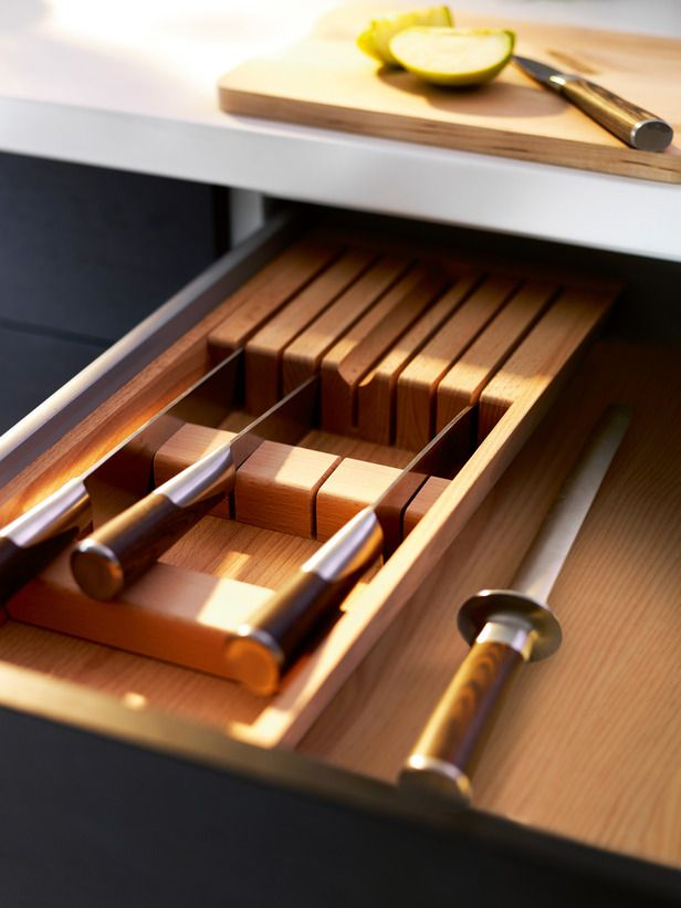 Good IKEA Knife Block Pictured Inside Cabinet Drawer