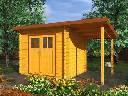 Zahradní domky na nářadí Robin EKO DD - Robin EKO DD 300x250 28 mm + přístřešek