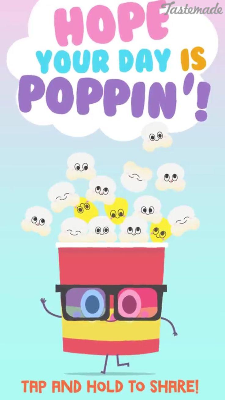 Cute popcorn!!! | cute food | Pinterest | Popcorn, Food ...