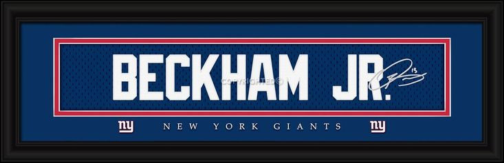 "New York Giants Odell Beckham Jr. Print - Signature 8""x24"""
