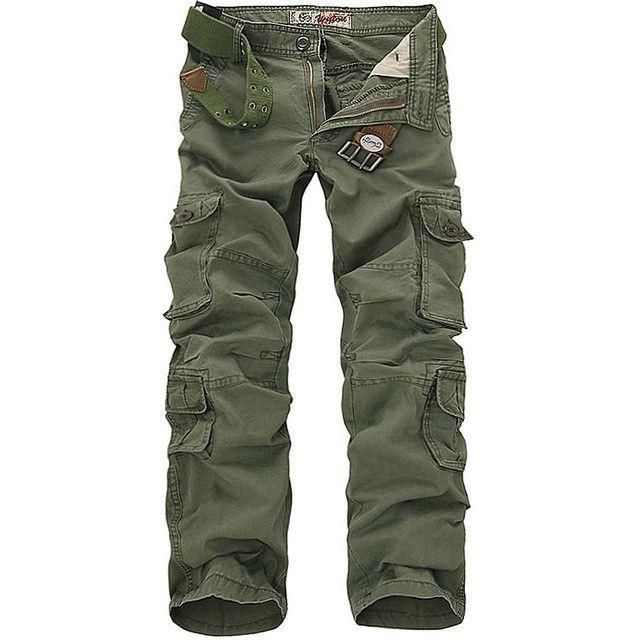 men's casual cotton cargo pants combat camouflage pant men's Bottoms pockets trousers