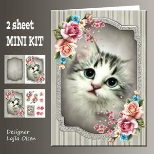Cat and Roses on Craftsuprint - View Now!
