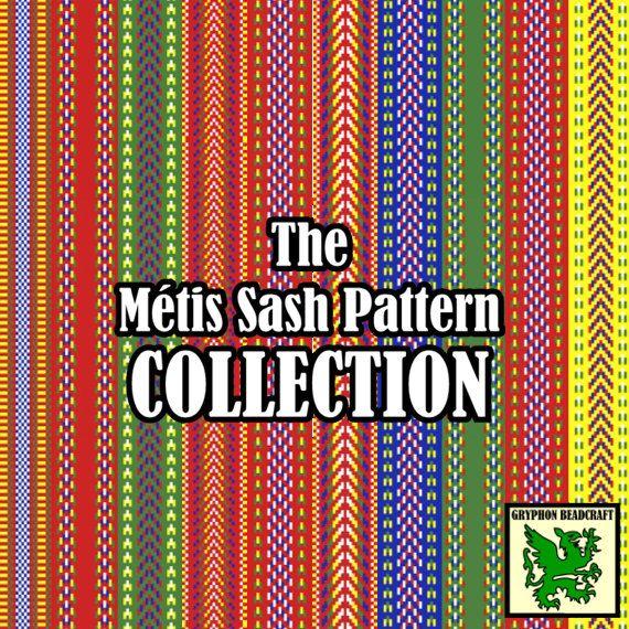 Loom Beading Patterns The Métis Sash Pattern by GryphonBeadcraft