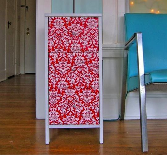 covering furniture with contact paper. use contact paper to decorate old furnituresaw this done at home goods covering furniture with o