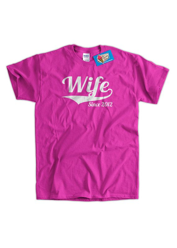 Wedding Gift T shirt Wife Since shirt Any Year by IceCreamTees