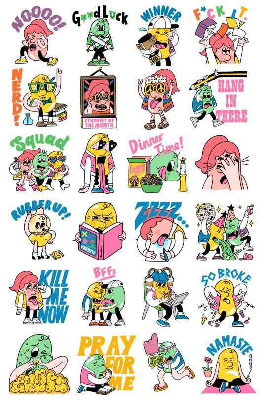 Katie prior digital stickers for allo