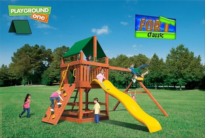 Playground Cabin Playset