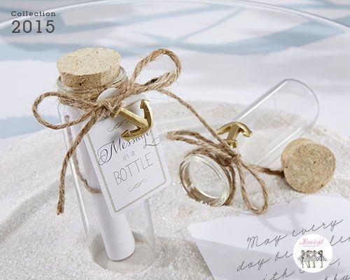 Decoration mariage bouteille a la mer