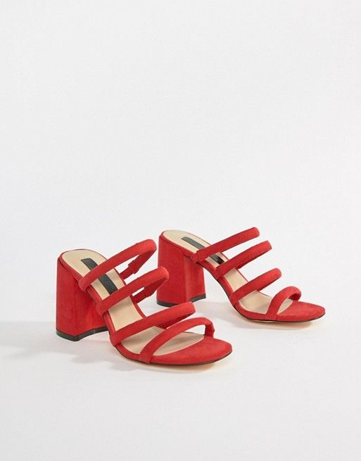 81843f337b368 Miss Selfridge tube strappy sandal
