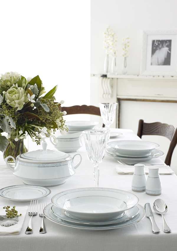 Noritake Hampshire Platinum formal dinnerware <3<3