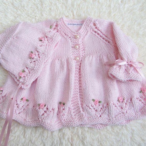 Conjunto de bebé de algodón de punto a mano por jayceeoriginals