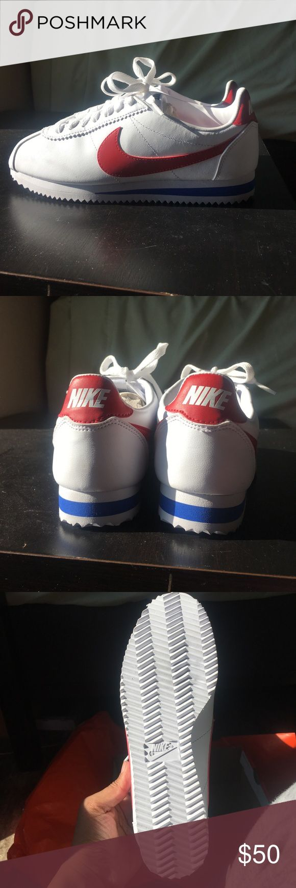 WMNS Classic Cortez Leather The Nike Classic Cortez Women's Shoe is Nike's original running shoe, designed by Bill Bowerman and released in 1972. This version features a leather and synthetic leather construction for added durability. White/Varsity Royal/Varsity Red Nike Shoes Sneakers