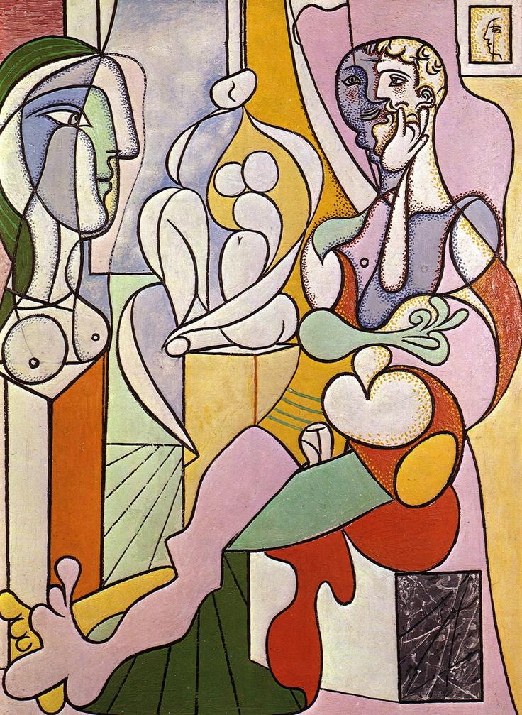 Pablo Picasso    Heykeltraş / The Sculptor    1931. Kontrplak üzerine yağlıboya. 128.5 x 96 cm. Musée Picasso, Paris.