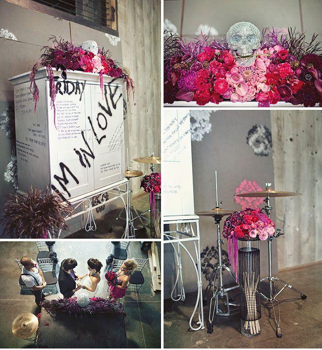 Rock 'n' Roll Wedding Inspiration | Green Wedding Shoes Wedding Blog | Wedding Trends for Stylish + Creative Brides
